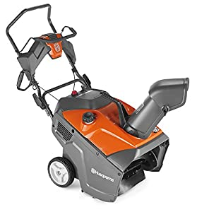5. Husqvarna 961830003 208cc Single Stage Electric Start Snow Thrower, 21-Inch