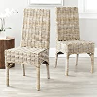 Safavieh Home Collection Beacon Natural Dining Chair (Set of 2)
