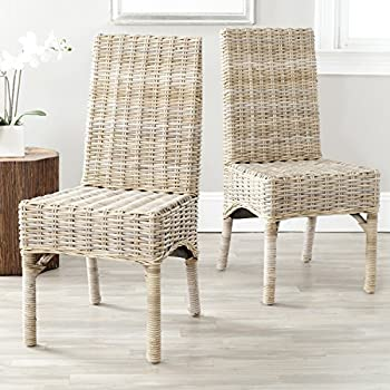 Safavieh Home Collection Beacon Natural Dining Chair Set Of 2