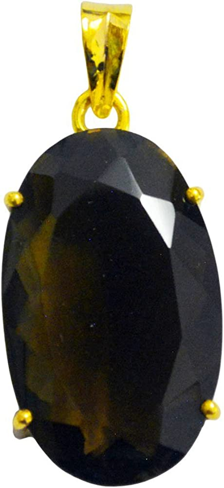Jewelryonclick Real Yellow Gold Plated Lemon Quartz Pendant Jewelry Gifts for Her Fashion Indian Handmade