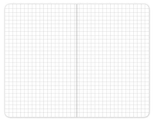 "Field Notebook - 3.5""x5.5"" - Combination of Kraft, Black, Orange, Yellow - Graph Memo Book - Pack of 5"