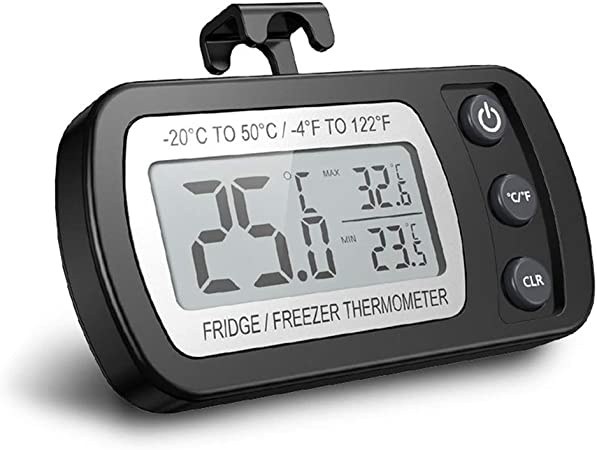 Thermostat num/érique pour r/éfrig/érateur thermom/étre de r/éfrig/érateur sans fil op/ération simple Thermostat /étanche avec affichage du capteur pour le r/éfrig/érateur cong/élateur