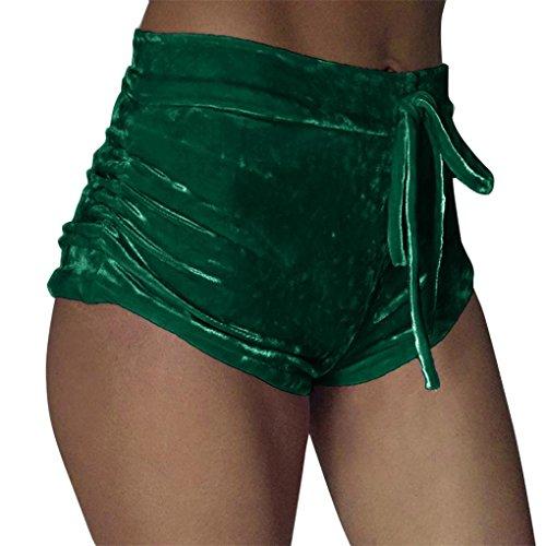 haoricu Women Shorts, 2017 Women Crushed Velvet Ladies Casual Shorts High Waist Pants