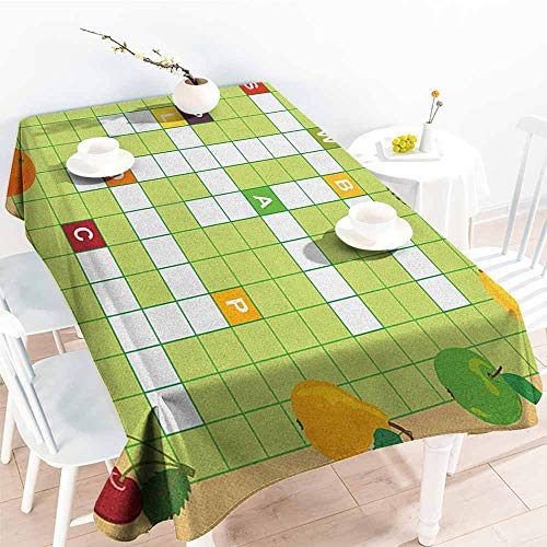 - familytaste Word Search Puzzle,Personalized Tablecloths Vivid Graphic Summer Fruits with Educational Crossword Game for Kids 54