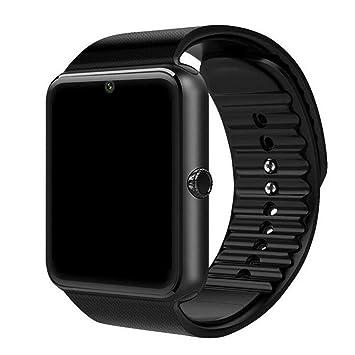 KOBWA Smart Watches GT08 Reloj de Pulsera con Pantalla táctil con cámara/Ranura para Tarjeta SIM/podómetro analógico/notificación de ...