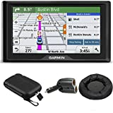 Garmin Drive 50LM GPS Navigator Lifetime Maps (US) 010-01532-0C Case + Mount + Charger Bundle includes GPS, 5-inch Soft Case, Nav-Mat Portable GPS Dash Mount and Dual 12V Car Charger