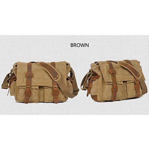XY Fancy - Bolso al hombro para hombre marrón marrón, gris (gris) - RH#BB0829-0218-GC20 marrón