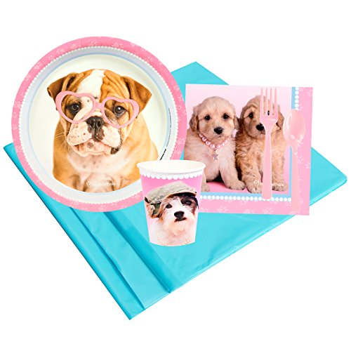 BirthdayExpress Rachael Hale Glamour Dogs Party Supplies - Party Pack for 8 Guests