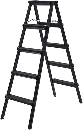 XSJZ Taburete Negro, Escalera Ligera Multifunción Plegable de Aleación de Aluminio para Trabajos En Interiores Y Exteriores Escaleras Mecánicas Ascendentes Escalera Plegable (Color : C): Amazon.es: Hogar