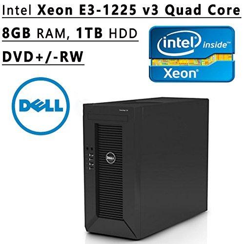 Tower Hardware (Dell Flagship PowerEdge T20 tower Server System| Intel Xeon E3-1225 v3 3.2GHz Quad Core| 8GB RAM | 1TB HDD| DVD RW | No Operating System | Black)