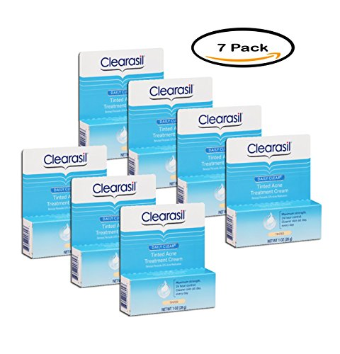 PACK OF 7 - Clearasil Daily Clear Tinted Acne Treatment Cream 1 oz. Box