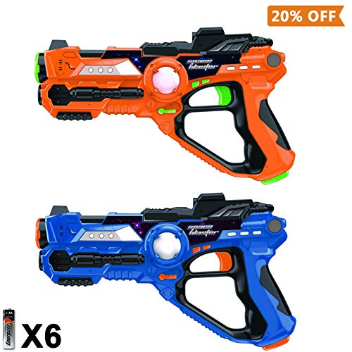 Laser Tag-Laser X Recoil Laser Tag Lasers Gun Toy Gun Set 2-Player Space Blaster Toys for Boy Gift Laser Tag Sets with Gun Games