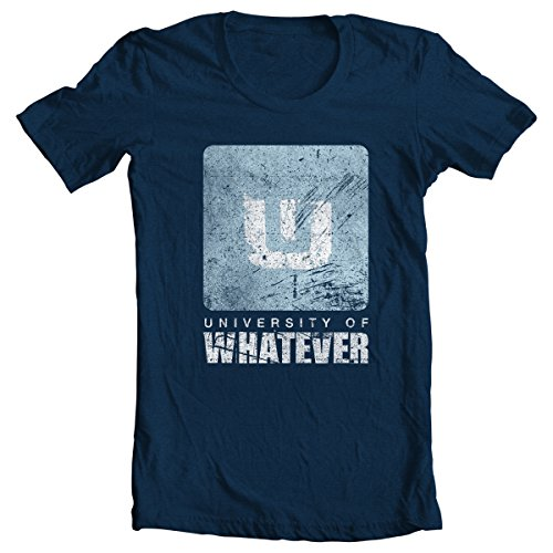 University of Whatever Campus T-shirt for men - Cool t shirts for men (Navy Blue, XL)