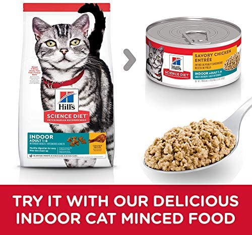 Hill's Science Diet Dry Cat Food, for Adult Indoor Cats, Chicken Recipe 7