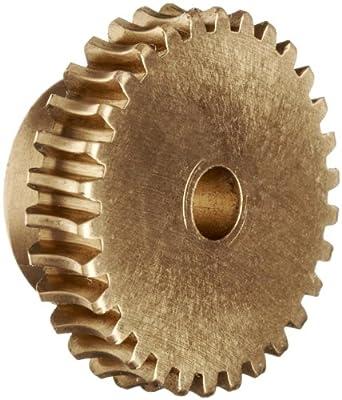 "Boston Gear G1024 Worm Gear, Plain, 14.5 PA Pressure Angle, 0.188"" Bore, 60:1 Ratio, 60 TEETH, RH"
