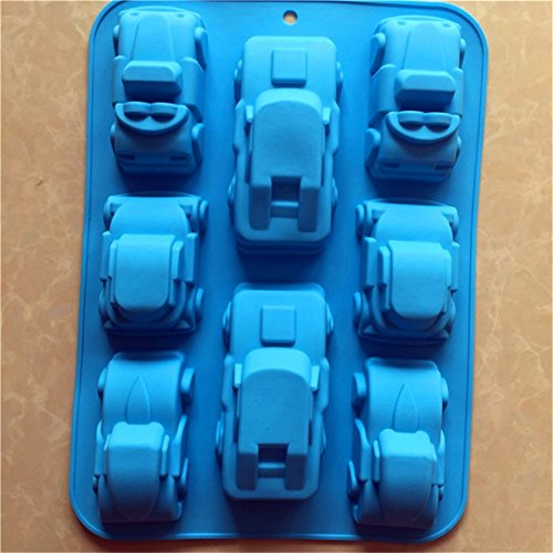 FantasyDay Carton Car Shaped Silicone Baking Molds Bakeware for Halloween Theme Chocolate, Muffin Cups, Ice Cube, Soap, Wafer, Cake, Bread, Tart, Pie, Flan, Pudding, Candy, Jello Shot and More #1