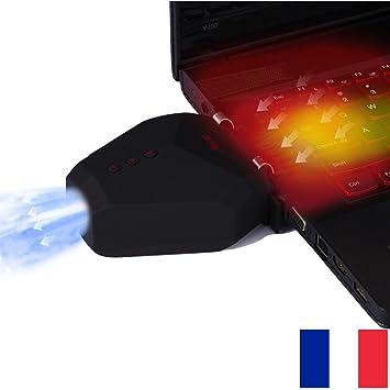 PratiK - Ventilador portátil para ordenador portátil (4500rpm,