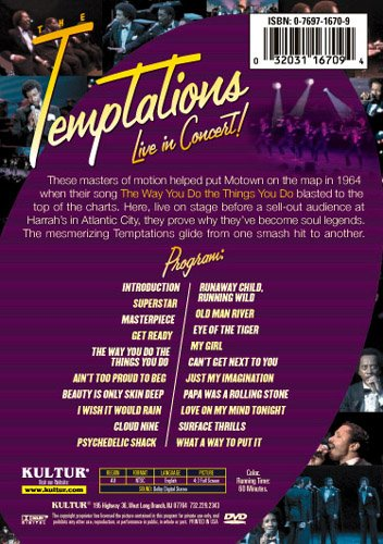 The Temptations - Live in Concert by Kulter