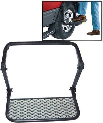 Stoneman Sports UL5A Sparehand Steel Adjustable Wheel Step for Trucks Vans and SUVs, Black Finish by Stoneman Sports