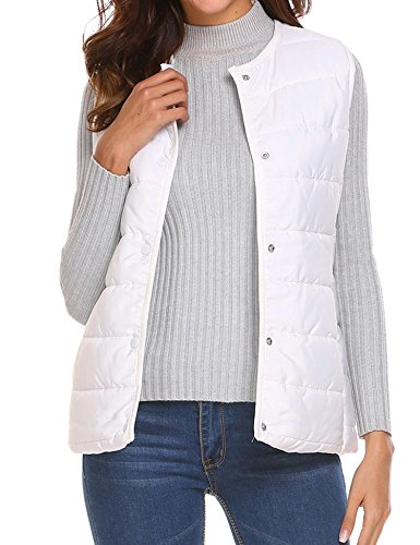 unibelle Women's Ultra Light Sleeveless Cotton Jacket Packab