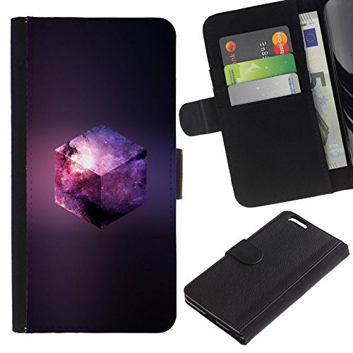 Nhl Cube - GIFT CHOICE / SmartPhone Cell Phone Leather Wallet Case Protective Cover for Apple Iphone 6 PLUS 5.5 // Galaxy Cube //