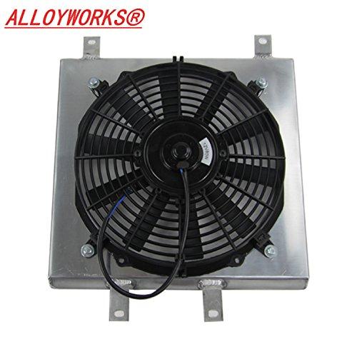 ALLOYWORKS Aluminum Radiator Fan Shroud Kit for HONDA CIVIC / DEL SOL / INTEGRA DC 1992-2001