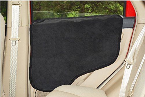 ... Dog Backseat Door Protector 2 Pack To Install Insert The Tabs Or Stick  The Velcros   Fit All Vehicles  Black, Black U0026starf;u0026starf;u0026starf; 7  Customer ...
