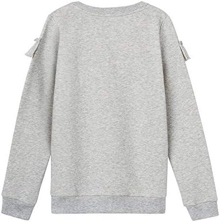 French Toast Baby Girls Long Sleeve Ruffle Front Sweatshirt