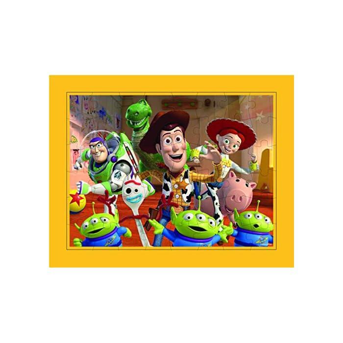 510baK5iF L Conjunto de 3 puzles con los personajes de la película Toy Story 4 Los puzles tienen efecto lenticular (3D) y se componen de 48 piezas grandes Las medidas de los puzles son 30 x 23 cm