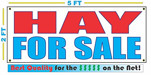 Cheap HAY FOR SALE All Weather Full Color Banner Sign