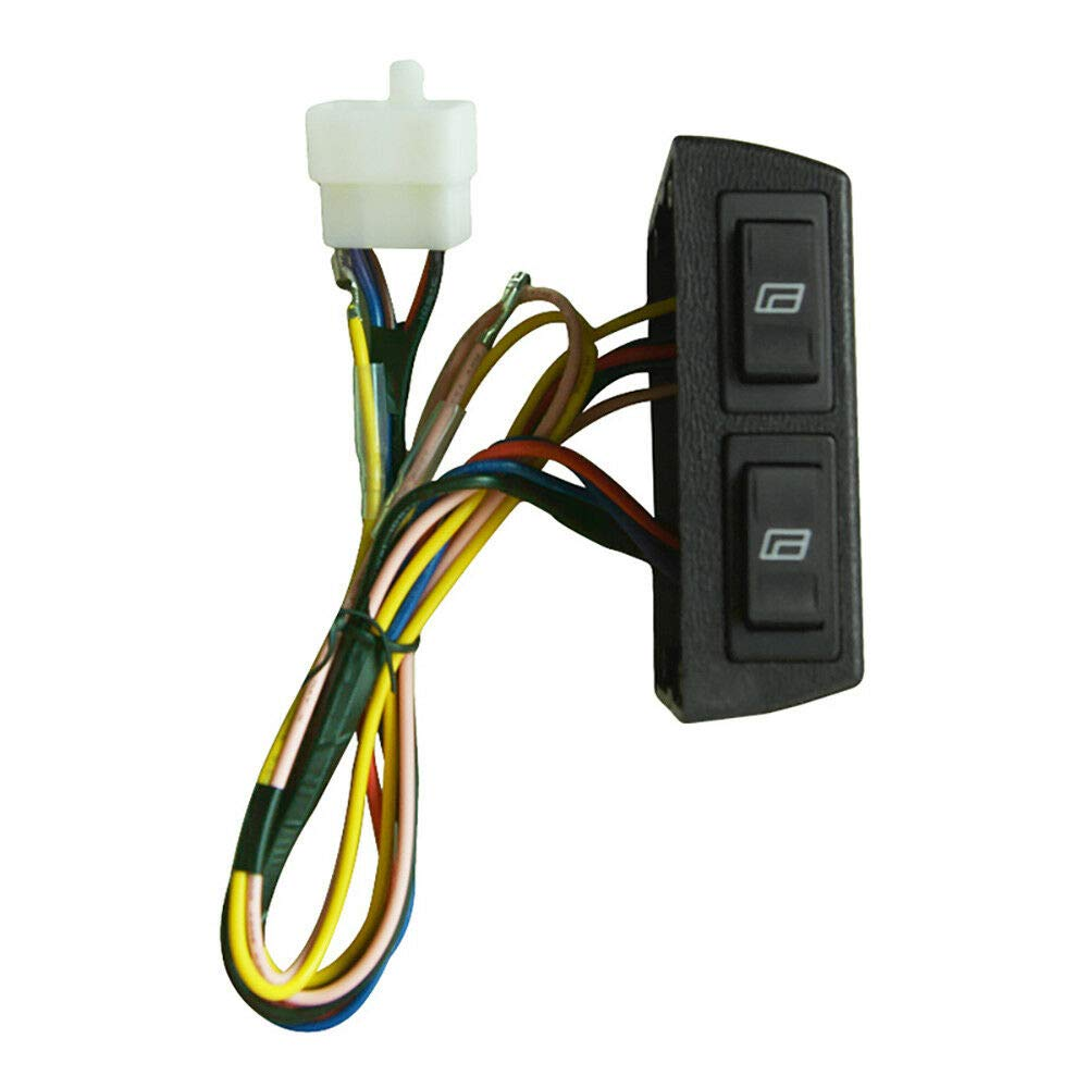 OUBAYLEW 2 Doors Car Pickup Universal Electric Power Window Lift Regulator Conversion Kit