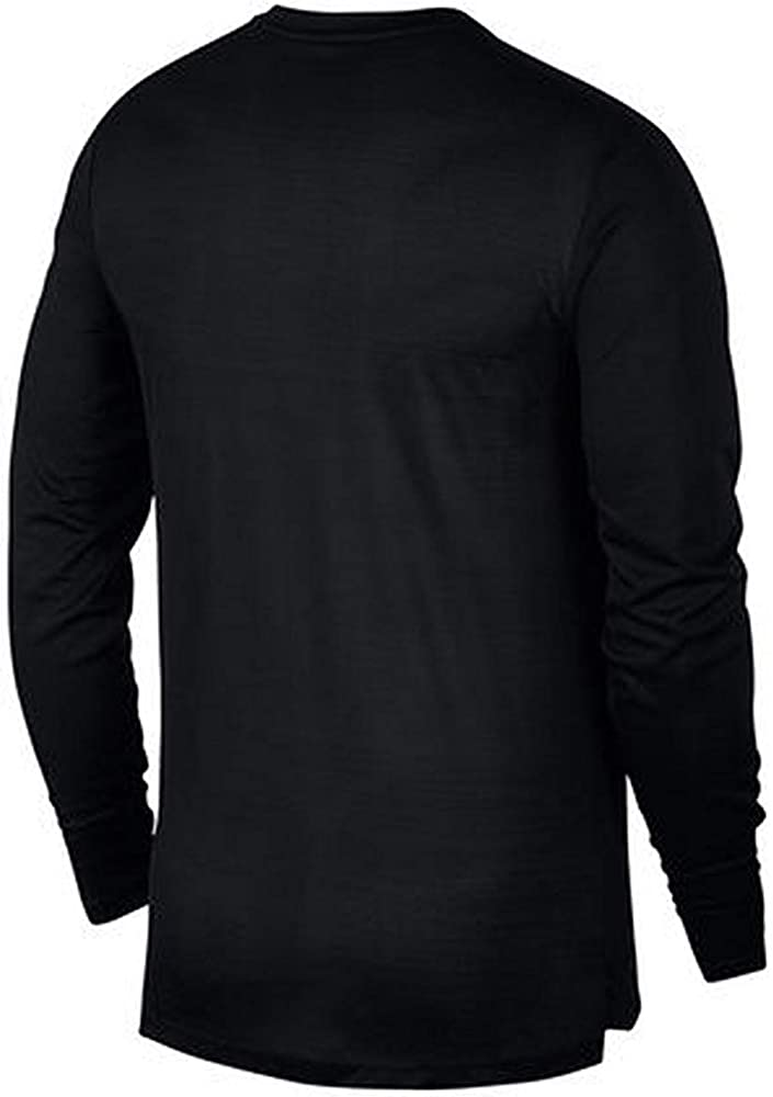 NIKE Tailwind Camiseta Cuello Redondo Manga Larga Algodón, Poliéster - Camisas y Camisetas (Camiseta, Adulto, Masculino, Negro, Monótono, S): Amazon.es: Ropa y accesorios