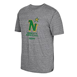 Nhl Minnesota North Stars Ccm Heritage 1 Tri-blend Short Sleeve Tee, Xx-large, Dark Grey Heathered