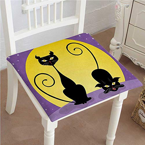Mikihome Squared Seat Cushion Cat Two Black Kitties
