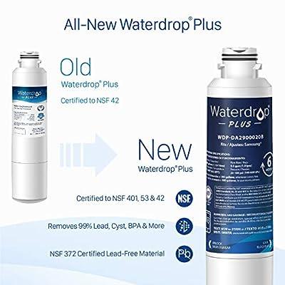 Waterdrop NSF 401&53&42 Certified Refrigerator Water Filter, Compatible with Samsung DA29-00020B, DA29-00020A, HAF-CIN/EXP, 46-9101, Plus, Pack of 3