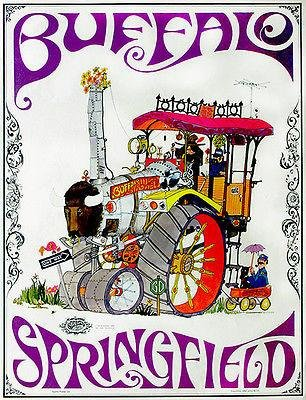 Buffalo Springfield - 1968 - Band Promo (1968 Promo Poster)