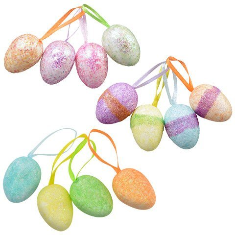 Easter Egg Ornaments Perfect for Easter Tree, Pack of 36
