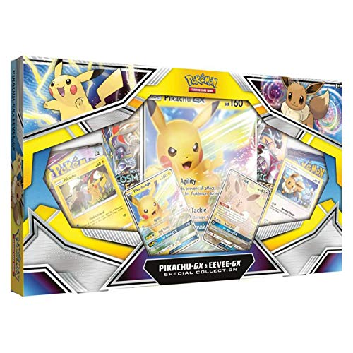 Pokemon TCG: Pikachu-Gx & Eevee-Gx Special Collection | 4 Booster Pack | Pikachu-Gx Foil Promo Card | Eevee-Gx Foil Promo Card from Pokemon