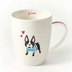 Two's Company Kennel Club Mug in Gift Box, Boston Terrier