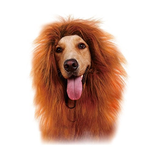 UPC 605175776011, GABOSS LLL30 Lion Mane Costume, Lion Wig for Dog Large Pet Festival Party Fancy Hair Dog Clothes, Dark Brown