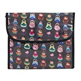 Dilly's Collections Hanging Cosmetic Bag With Hook - Portable Travel Makeup Organizer Stores Your Beauty Essentials - Multiple Compartments - Waterproof - Durable - Babushka Design Makeup Bag
