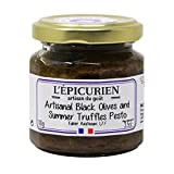 L'Epicurien, Black Olives and Summer Truffles Pesto Tapenade, 3.5 Ounce (100 Gram), Jar