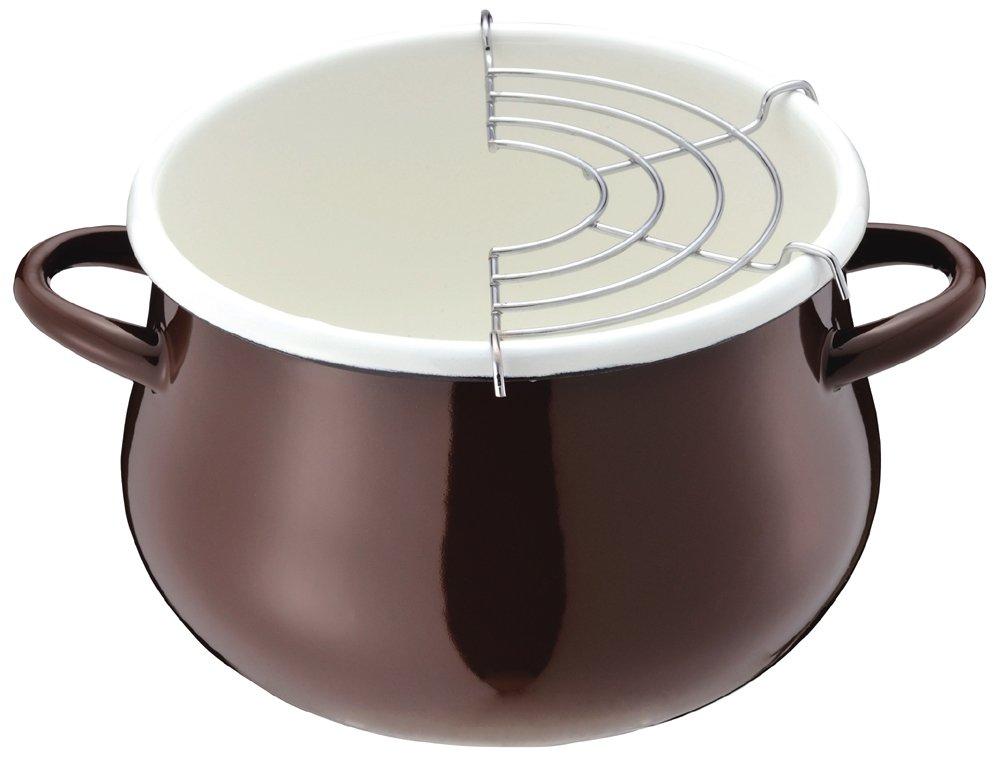 パール金属 天ぷら鍋 16cm ブラウン HB-1680