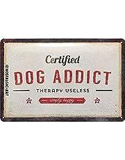 Nostalgic-Art Retro Tin Sign – PfotenSchild – Dog Addict – Gift idea for pet owners, Metal Plaque, 20 x 30 cm