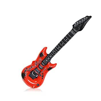 Guitarra hinchable, 1 pieza, Largo: 107 cm, Medidas: 21 x 14 x 0.5 cm, Juguete para Fiestas.: Amazon.es: Juguetes y juegos