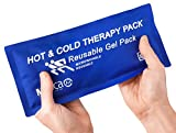 MEDca universal Hot & Cold Reusable Microwavable Gel Pack, 5' x 10', Soft & Comfortable Heating or Cooling Therapy for Sprains, EXTRA DURABLE NYLON QUALITY