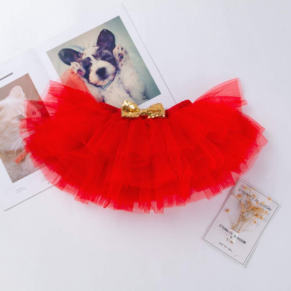 YuanDian Baby M/ädchen 3tlg Kleid Weihnachten Bekleidung Set Neugeborenes Outfit Kleinkind Weihnachtskost/üm Strampler Body Stirnband Babykleidung T/üt/ü Rock