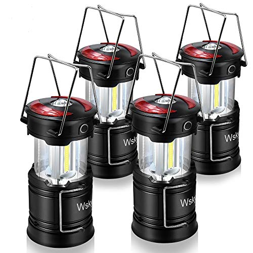 Wsky Led Camping Lantern - Rechargeable LED Flashlight Lantern - High Lumen, Rechargeable, 4 Modes, Water Resistant Light - Camping, Outdoor, Emergency Flashlights Lanterns (1 Built-in Battery) 4 (Best Lantern Flashlight For Emergencies)