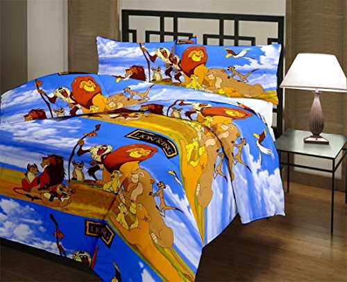 Frabjous Lion King Prints Polycotton Single Bed Reversible Dohar/AC Blanket/Quilt For Kids