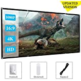[Updated Version]120 Inch Projector Movie Screen, ASINNO Portable Folding Indoor Outdoor 4K HD 16:9 Movie Projection Screen for Meeting/Home/Cinema/Theater /Presentation